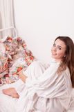 Girl in a bed Royalty Free Stock Photography