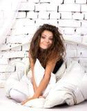 Girl in bed Stock Image