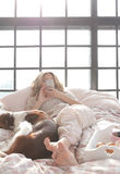Girl in bed Royalty Free Stock Photography