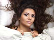 Girl  in the bed Stock Photography