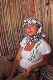 Girl in Bedouin tent Stock Images