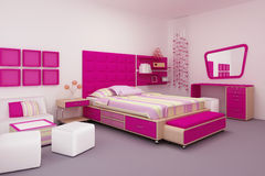 Girl Bedroom Royalty Free Stock Photography