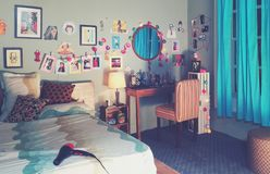 Girl bedroom decor royalty free stock photography