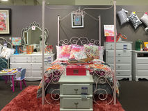 Girl bedroom furniture selling Stock Image