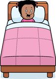 Girl Bedtime Stock Photo