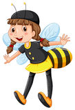 Girl in bee costume Stock Photo