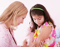 Girl being injected Stock Photo
