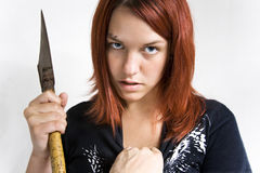 Girl being stoped while murder Stock Image