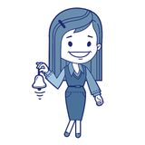 Girl  with bell. This is file of EPS10 format Royalty Free Stock Photo