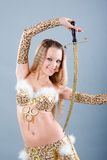 Girl in belly dance dress Stock Image