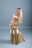 Girl in belly dance dress Royalty Free Stock Photography