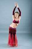 Girl in belly dance dress stock images
