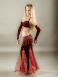 Girl in belly dance dress royalty free stock photo