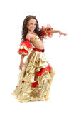Girl in belly dancer costume Stock Photography