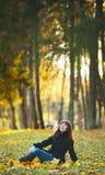 Girl on Bench Royalty Free Stock Photos