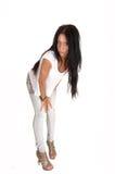 Girl bending forward. Stock Image