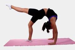 Girl bending over backwards Stock Photo