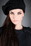 Girl in a beret Royalty Free Stock Image