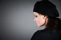 Girl in a beret Stock Photography