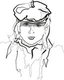 Girl in a beret Stock Photos