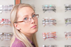 The girl bespectacled Royalty Free Stock Photo