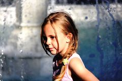 Girl. Beutiful sunshine portreit daughter Royalty Free Stock Photography