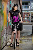 Girl on Bicycle Royalty Free Stock Image