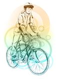 Girl bicycle Stock Photo