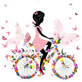 Girl on a bicycle Stock Photo