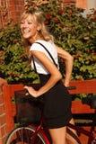 Girl on bicycle Royalty Free Stock Image