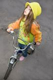 Girl and bicycle Royalty Free Stock Photos