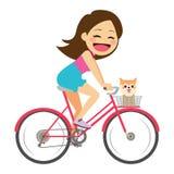 Girl on Bicycle Stock Image