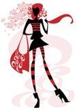 Girl with a big bag Royalty Free Stock Photos