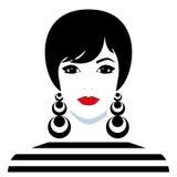 Girl with big earings Stock Photography
