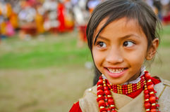 Girl with big eyes in Meghalaya Stock Photos