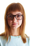 The girl in the big glasses Royalty Free Stock Images