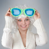 Girl with big glasses Royalty Free Stock Photo