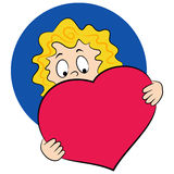 Girl with a big heart Stock Photography