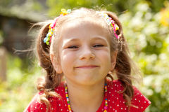 Girl with a big smile Royalty Free Stock Photography