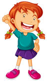 Girl with big smile. Illustration Royalty Free Stock Photography
