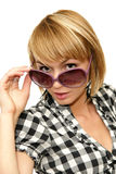 Girl with big sunglasses Royalty Free Stock Photos