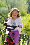 Girl on a bike Royalty Free Stock Photos