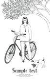 Girl&bike 库存图片