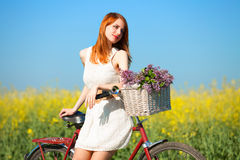 Girl on a bike Stock Photography