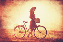 Girl on a bike Stock Image