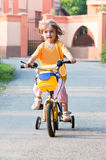 Girl bike play sports fun Stock Photo