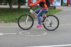 Girl on bike Royalty Free Stock Photo