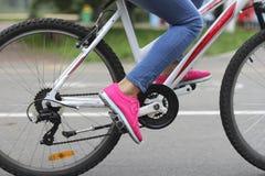 Girl on bike Stock Image