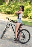 Girl on bike Royalty Free Stock Photography