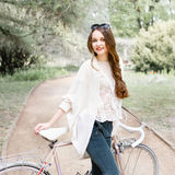 Girl on a bike ride Royalty Free Stock Photo
